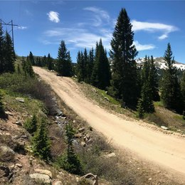 Dirt road in the mountains is no problem for our overland camper | Boreas Campers Homepage
